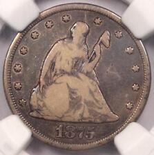 1875-CC Twenty Cent Piece 20C - NGC Fine Details - Rare Carson City Coin!