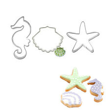 Ocean Seahorse Star Shell Baking Biscuit Cookie Cutter Set Decorating Mould