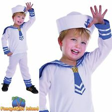 KIDS NAVY MILITARY MARINE SAILOR BOY - Age 2-3 - boys childs fancy dress costume