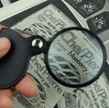 Mini Pocket 8X 50mm Folding Jewelry Magnifier Magnifying Eye Glass Loupe Lens F