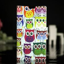 Sony xperia ion lt28i Case Book Housse de protection pliante Owl Flip étui beaucoup de hibou