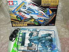 Tamiya 1/32 mini 4WD Cyclone Magnum Blue Plated Battery Model Car Kit #94486