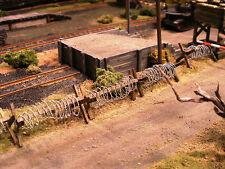 HO Roco Minitank Parts Set of TEN Barbed Wire Barricades Custom Detailed #DP45