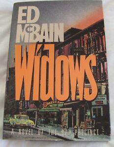 Ed McBain WIDOWS First Edition Signed 1991 A Novel of the 87th Precinct: HC/DJ