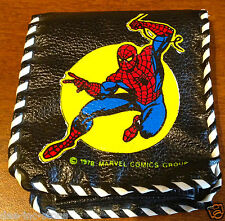 Nice Vintage Spiderman Wallet 1978 in Black Hand Stitched Trim