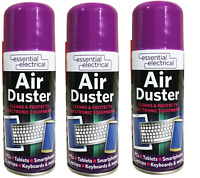 3 x Compressed Air Duster Spray Can 200ml Canned Cleaner Laptop Keyboard
