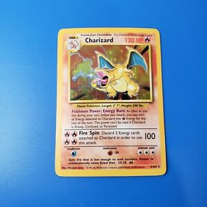 Charizard 4/102 Base Set Holo Pokemon Card Played Condition