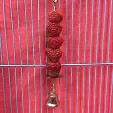 Small Animal Toy Metal Stick & Bell ONLY Treat Fruit Veg Holder Boredom Breaker