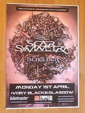 Scar Symmetry + Beholder - Glasgow april 2013 tour concert gig poster