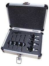 8pc Non Matching Plug Cutter and Countersink Set 6,8,10,12mm Aluminium Case