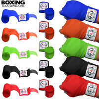 Hand Wraps Bandages Fist Boxing Inner Gloves Mitts MMA Cotton Pair SPALL