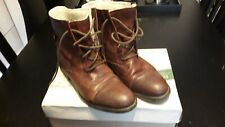 CLARKS Brown Leather Boots . Size 6 (39)