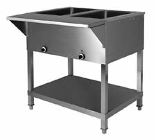 Klinger's All Stainless Steel 2 well Electric Steam Table Wet/Dry Kti Sw-2H-120