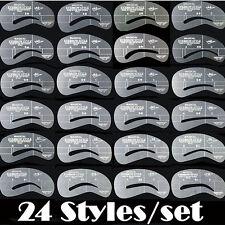 Eyebrow Shaping Stencils Grooming Kit Makeup Shaper Set Template Tool 24 Styles