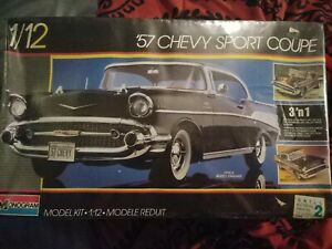 Monogram '57 Chevy Sport Coup 1/12th Model Car From 1986 Factory Sealed