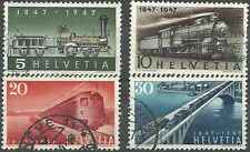 Timbres Trains Suisse 441/4 o lot 8513