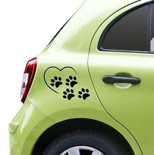 Autotattoo Autoaufkleber Auto Sticker Aufkleber Pfoten Herz Tierliebe Tier