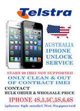 TELSTRA AUSTRALIA FACTORY UNLOCK SERVICE iPhone 7 6S/6S+/6/6+/5S/5C/5/4S/4/3GS