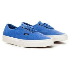 VANS Authentic (Overwashed) Nautical Blue/True White Men's Skate Shoes 8.5
