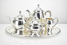 Wolff Pforzheim Art Deco 5pcs Tea / Coffee Set Service w Tray Silver Plated 1930