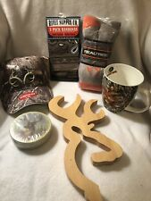 Mens Camo Hunting Gift Baskets Set Deer Coasters Socks Realtree Cap Bandana Mug