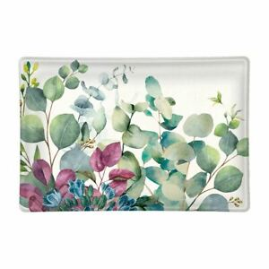 Michel Design Works Eucalyptus & Mint Glass Soap Dish Trinket Tray Candy Dish