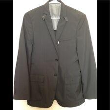Calvin Klein Mens Sport Coat Raincoat Black Sz 38R Slim Jacket