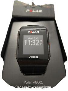 Polar V800 Black ,leichte Gebrauchsspuren Brustgurt Bluetooth H7 + Fahrradhalter