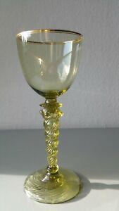 Seltens Jugendstil Römer Glas Theresienthal Goldrand um 1900 signiert mit T.