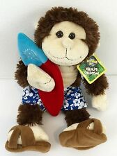 The Petting Zoo Wildlife Collection Male Surfer Monkey Stuffed Toy NEVER USED