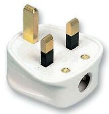 13 A 13 AMPERES blanc Plug Plugs économie Commerce Pack de 20 230 V Impact Resistant Nylon