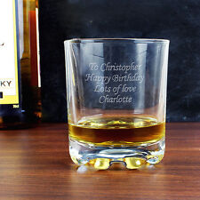 Personalised Engraved Whisky Tumbler Glass - Gifts for Men Dad Grandad Uncle
