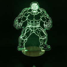 Marvel Superhero Hulk Color Changing Light Remote Controlled 3D Decor Lamps
