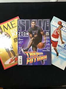 ZION WILLAMSON Magazine Cover Collection SLAM + Time + SI Kids ROOKIE Mags
