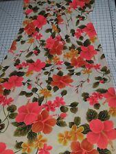 New listing Vtg 60's 1960's Peach Hawaiian Hilo Hattie Hawaii Bright Floral Dress 14