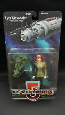 Babylon 5 Lyta Alexander Figure, With Green Ship Rare In Red, Not Green 5