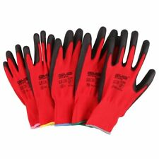CE Certificated Polyester Work Gardening Safety Disposable Gloves 1 Pair New Set