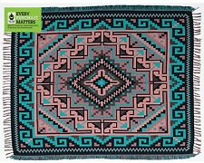 #5000 New Woven Blanket Native American Southwest Reversible Accent Throw 4'x5'