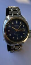 Vintage Seiko 6106-8237 Automatic Blue Dial 70 Meters Spanish Date RARE