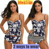 NEW Women Tankini High Waisted Swimsuits Bathing Suit Floral Swimwear withBriefs
