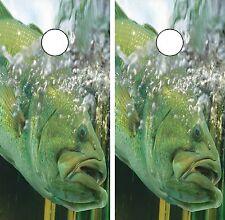 C118 Bass Fishing Cornhole Board Wrap LAMINATED Wraps Decals Vinyl Sticker