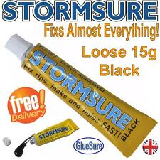 STORMSURE 15G BLACK FLEXIBLE REPAIR ADHESIVE GLUE  FIX RIPS AND HOLES FAST UK
