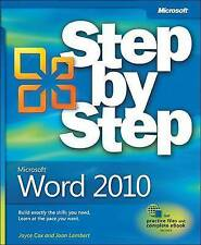 Microsoft Word 2010 Step By Step BOOK NEW
