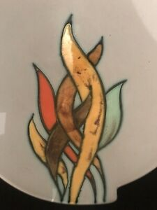 Flora Gouda Holland Dish/ plate '1501 Linda' With Glazed Flames Fire Design 🔥