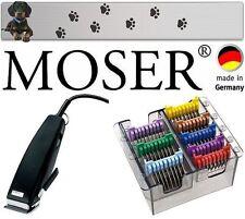 MOSER REX  PROFi SCHERMASCHINE  TRIMMER + EDELSTAHL AUFSCHIEBEKAMM-SET 3-25 MM