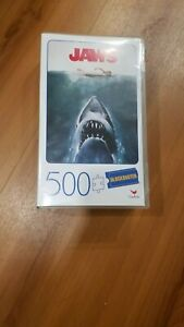 NEW! Jaws - 500 Piece Puzzle in Plastic Retro Blockbuster VHS Video Case