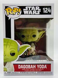 FUNKO POP DAGOBAH YODA STAR WARS DISNEY #124 VINYL FIGURE IN HAND SHIPS NOW