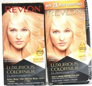 2 Revlon Luxurious Colorsilk Buttercream 81N Light Blonde Permanent Dye Damaged