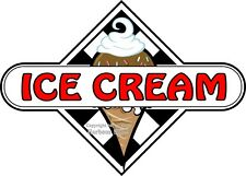 (Choose Your Size) Ice Cream Decal Checker Food Truck Concession Vinyl Sticker