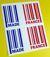 Hecho En Francia Bandera Barcode Sticker Decal X2 Citroen Renault Peugeot Alpine
